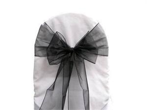 Where to find CHAIR SASH - BLACK ORGANZA in Duluth