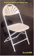Where to rent CHAIR, FOLDING WHITE PLASTIC in Duluth MN