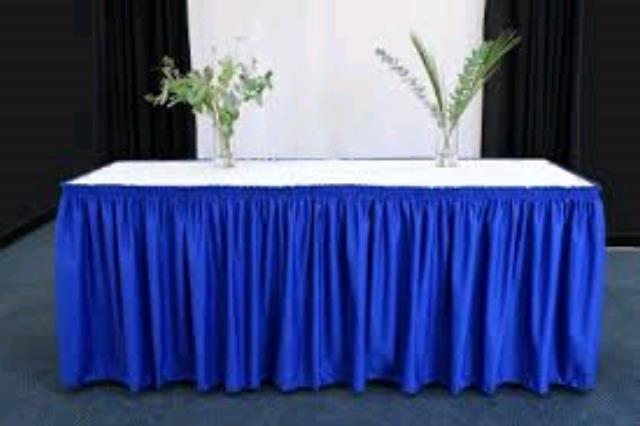 Where to find TABLE SKIRT, ROYAL BLUE EXPO in Duluth