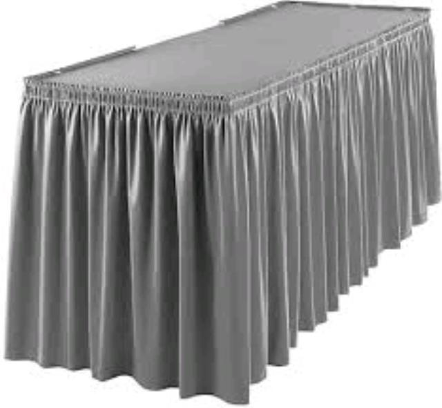 Where to find TABLE SKIRT, SILVER EXPO in Duluth