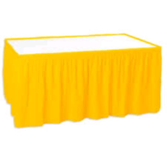 Where to find TABLE SKIRT, YELLOW EXPO in Duluth